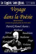 Affiche Voyage dans la poésie - La Comédie Saint-MIchel